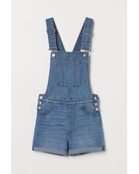 H&M Salopette short en denim - Bleu