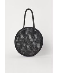 H&M Round Straw Bag - Black