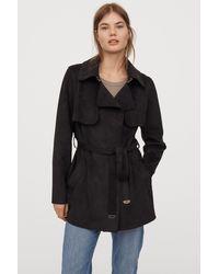 H&M Short Trenchcoat - Black