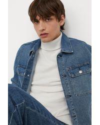 H&M Fine-knit Polo-neck Sweater - White