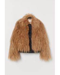 H&M Faux Fur Jacket - Natural
