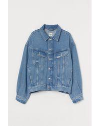 H&M Jeansjacke aus Lyocellmix - Blau