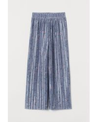 H&M Pleated Trousers - Blue
