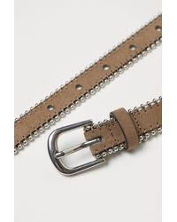 H&M Chain-trimmed Belt - Natural