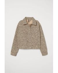 H&M Patterned Twill Jacket - Natural