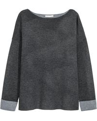 H&M Knitted Wool-blend Jumper - Gray