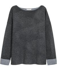H&M Pull en laine mélangée - Gris