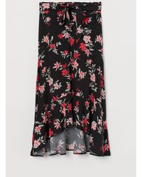 H&M Patterned Skirt - Black