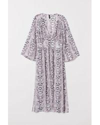 H&M - Longue blouse à boutons - Lyst