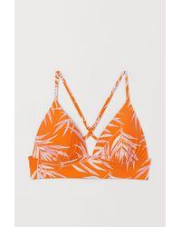 H&M Push-up Triangel-Bikinitop - Orange