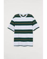 H&M Gemustertes T-Shirt - Grün
