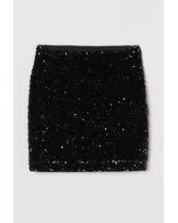H&M Sequined Skirt - Black