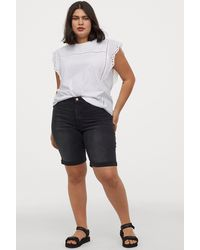 H&M H & M+ Embrace Bermuda Shorts - Black