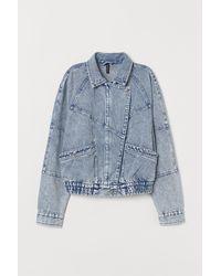 H&M Washed Denim Jacket - Blue