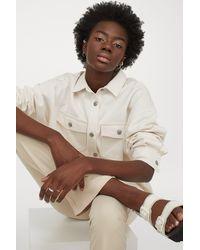 H&M Oversized Denim Shirt - White
