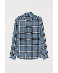 H&M Hemd Regular Fit - Blau