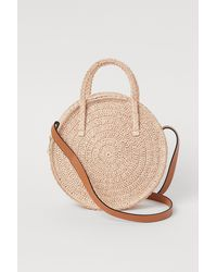 H&M Round Straw Bag - Natural