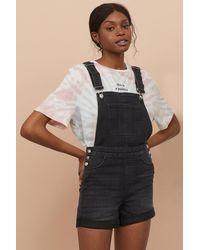 H&M Denim Overall Shorts - Black