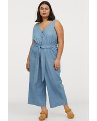 H&M + Denim Jumpsuit - Blue