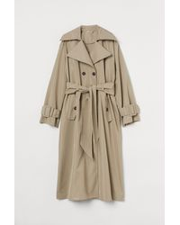 H&M Trench-coat oversize - Neutre