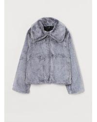 H&M Faux Fur Jacket - Grey