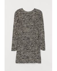 H&M Crêpe Dress - Natural