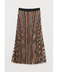 H&M Pleated Skirt - Orange