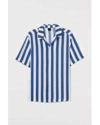 H&M Kurzarmhemd Regular Fit - Blau