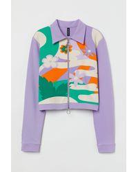 H&M Short Jersey Jacket - Purple