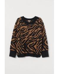 H&M H & M+ Jacquard-knit Jumper - Natural