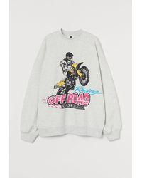 H&M - Oversized Sweatshirt - Lyst