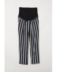 H&M Mama Trousers With A Tie Belt - Black