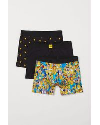 H&M 3-pack Mid Trunks - Yellow