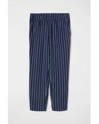 H&M Pantalon en crêpe - Bleu