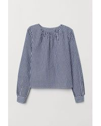 H&M Seersucker-Bluse - Blau