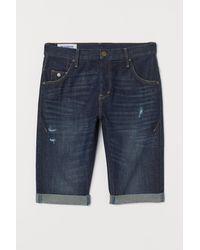 H&M Short en jean Relaxed Fit - Bleu