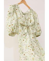 H&M Linen-blend Dress - Green