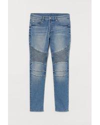 H&M Skinny Biker Jeans - Blauw