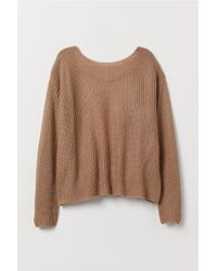 H&M Open-backed Sweater - Natural