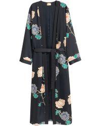 H&M Kimono à motif - Noir