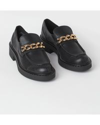 H&M Chain-detail Loafers - Black