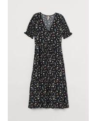 H&M - Kleid mit Volant - Lyst
