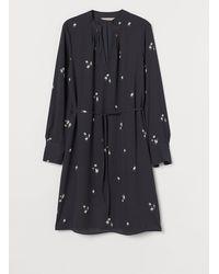 H&M - Kleid mit Bindebändern - Lyst