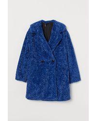 H&M Faux-fur-Jacke - Blau
