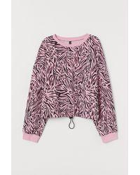 H&M Drawstring Sweatshirt - Pink