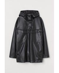 H&M Hooded Popover Jacket - Black