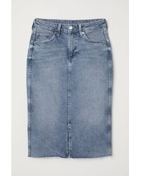 H&M Knee-length Denim Skirt - Blue
