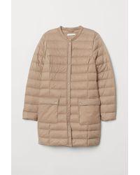 H&M Lightweight Down Coat - Natural