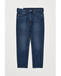 H&M Relaxed Tapered Jeans - Blau