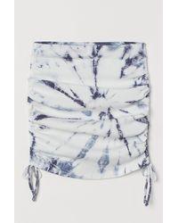 H&M Drawstring-detail Skirt - White